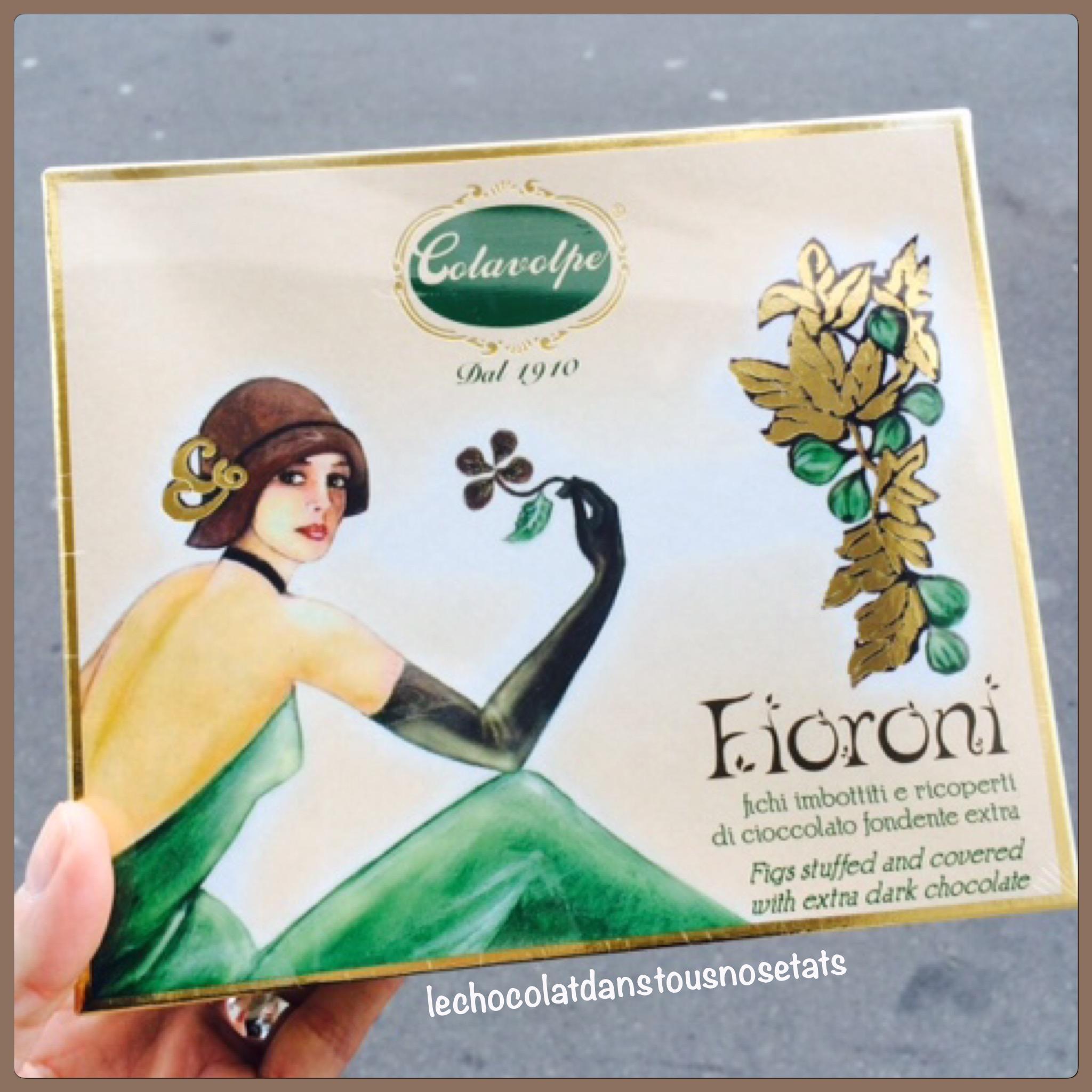 Les figues sèches enrobées au chocolat noir, FIORONI, COLAVOLPE