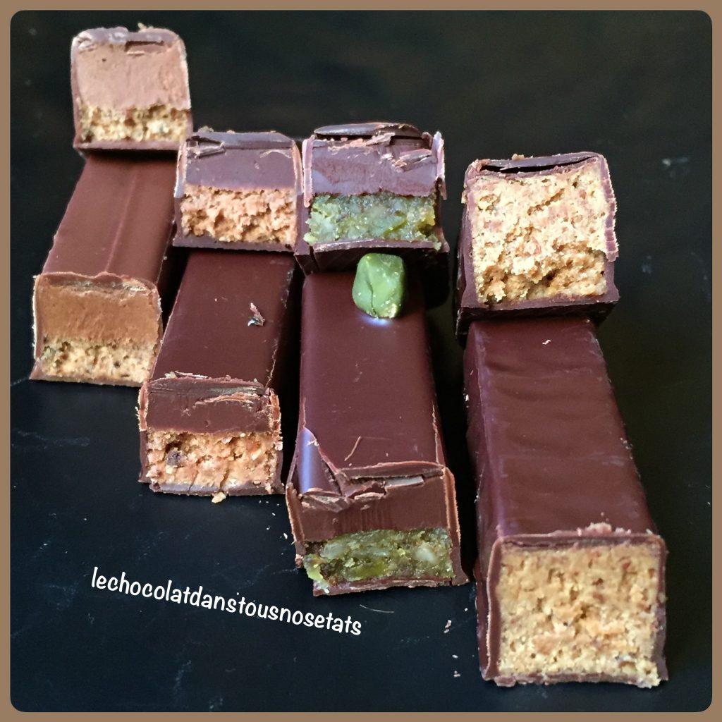 Barres au chocolat double texture, Le chocolat, Manufacture Alain DUCASSE, Paris