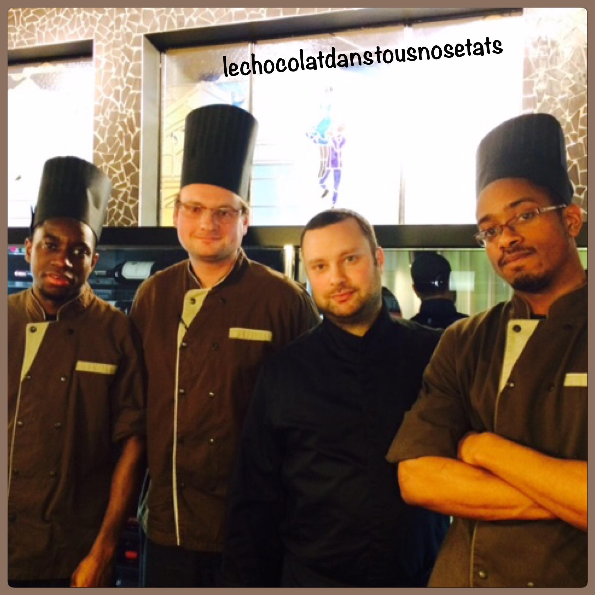 Damien VIDAL, Chef pâtissier et sa brigade, Hôtel MOLITOR, Paris