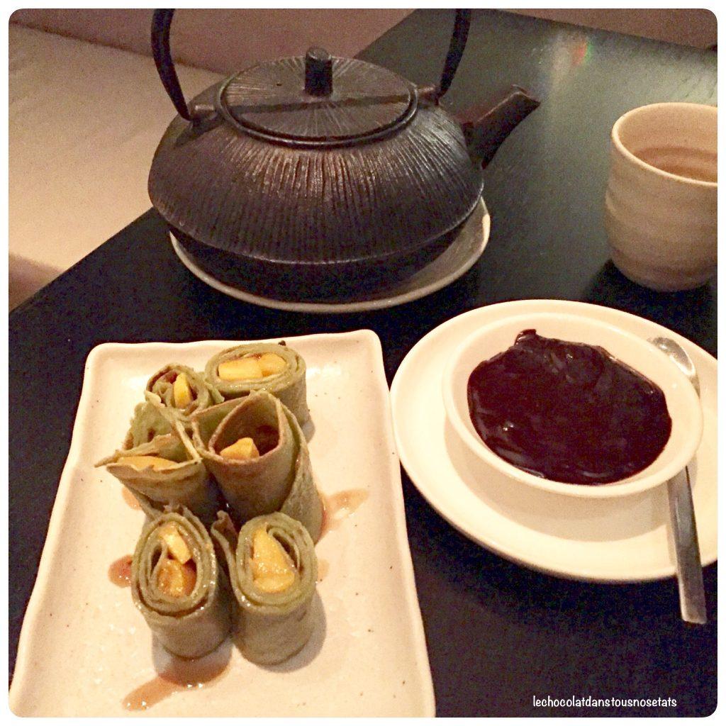 Crêpes au thé Matcha, Taokan