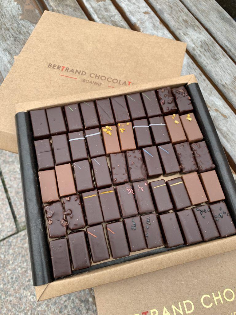Assortiment de chocolats, Maison Bertrand, Roanne