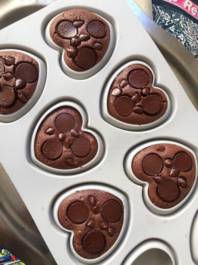 Recette - petits coeurs au chocolat